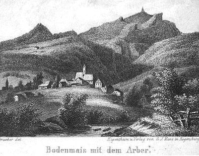 Bodenmais a Javor (tisk 1846)