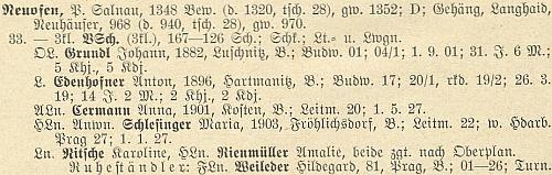 Soupis německého učitelstva v Čechách z roku 1928 ho uvádí ještě jako ředitele školy v Nové Peci