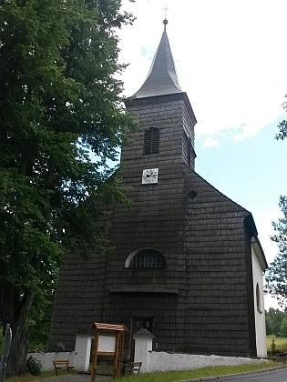 Kostel Neposkvrněného Početí Panny Marie v Hojsově Stráži s přilehlým hřbitovem