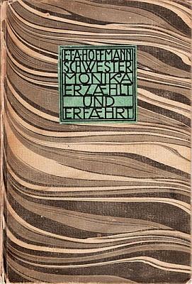 Obálka (1910) jím vydané knihy a E.T.A. Hoffmannovi připsané erotické výpovědi jeptišky