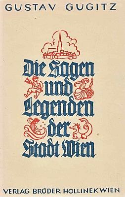 Obálka (1952, Verlag Brüder Hollinek) další jeho knihy o staré Vídni