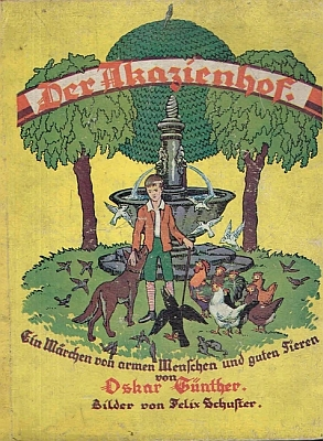 ... a jejich obálky: ta vlevo s ilustracemi Karla Storcha, knihu vlevo ilustroval Felix Schuster, obě vyšly kolem roku 1930