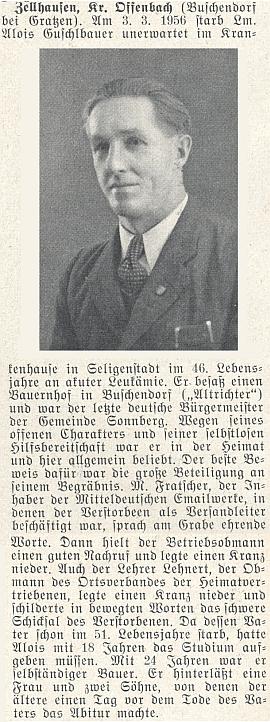 Nekrolog jeho bratra Aloise na stránkách krajanského časopisu