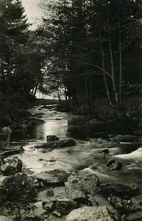 Údolí řeky Černé na pohlednici fotografa Josefa Wolfa z Českého Krumlova