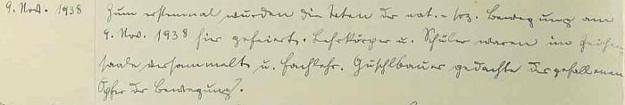 """Poté, co se 15. října 1938 konala z Chvalšin děkovná pouť do Kájova a den nato  ve Chvalšinách děkovná mše za záchranu míru, 9. listopadu v""""osudový den německých dějin"""" (viz"""