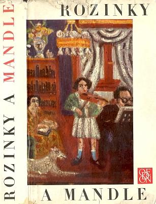 Obálka (1968) výboru z jidiš povídek nazvaného Rozinky a mandle v nakladatelství Odeon, k jehož ilustračnímu doprovodu byly vybrány obrazy Roberta Guttmanna