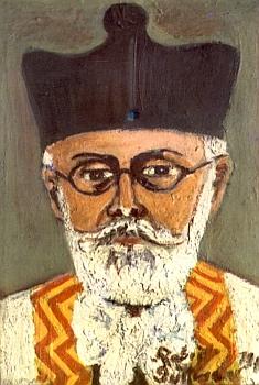 Portrét rabína Aladara Deutsche z roku 1941
