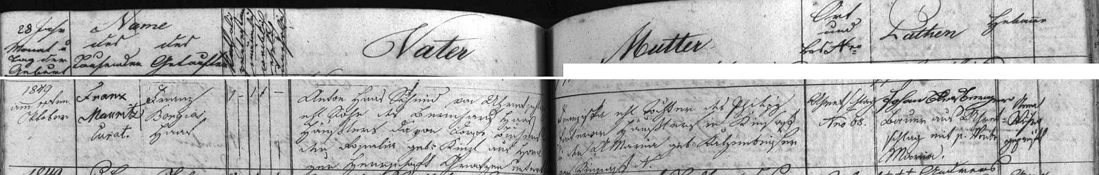 V křestní matrice farní obce Malonty záznam o jeho narození v Meziříčí (Uhretschlag) hledáme marně - jediní Haasovi tu ale byli ti kovářovi (Karl Haas a jeho žena Sofia na čp. 68, kde kovářské řemeslo provozoval i Karlův otec Anton Haas), kterým se v Meziříčí roku 1877 narodila podle tohoto záznamu dcera Juliane, rok nato syn Wenzl a v roce 1882 ještě dcera Maria