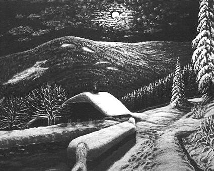 F. Haas, Dům na Šumavě, kresba