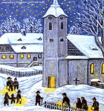Nevím, zda zimní varianta kresby je jakýmsi doprovodem kjeho básni Na půlnoční