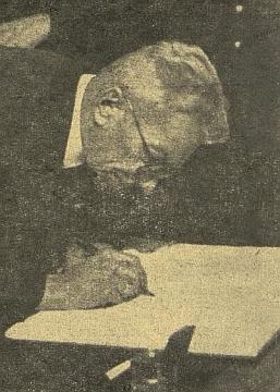 """Na """"hraničářském setkání"""" německých spisovatelů v Českých Budějovicích v lednu 1942"""