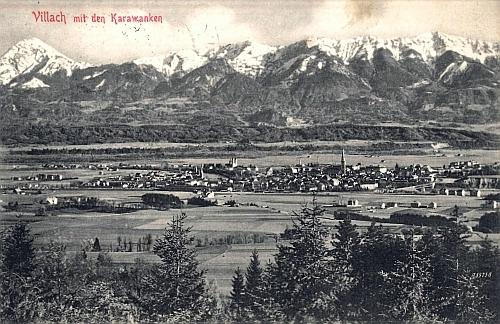 Villach na staré pohlednici