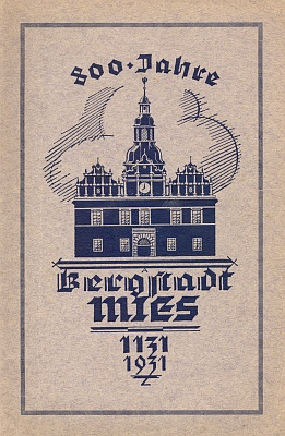Obálka (1931) sborníku k jubileu 800 let rodného města, který je uveden jeho básní