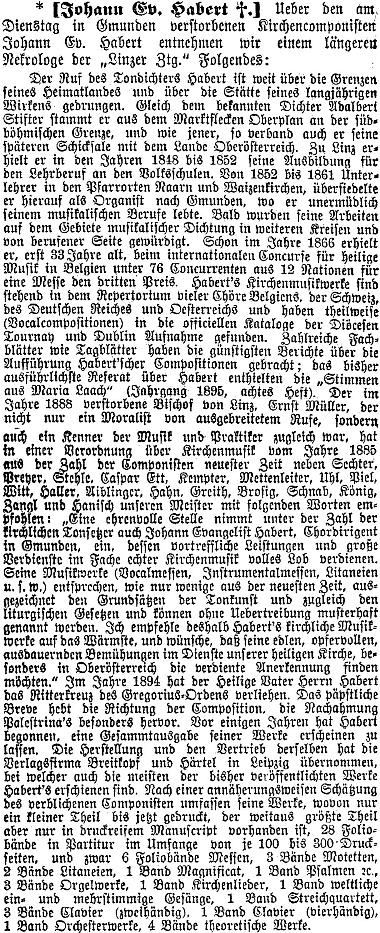 Nekrolog v rakouském tisku