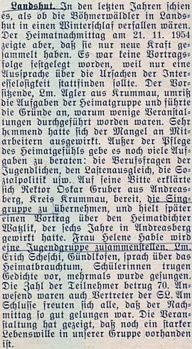 Zpráva o akci šumavských krajanů v bavorském Landshutu ji už jmenuje jako toho roku provdanou
