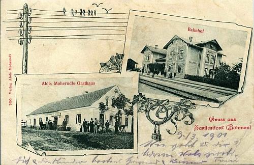 Rybník na starých pohlednicích