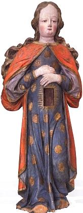 Panna Maria v Naději (Sancta Maria Gravida) zbavorského Bogenbergu, polychromovaná dřevořezba ze17. století, uchovávaná dnes ve Vlastivědném muzeu Dr. Hostaše v Klatovech
