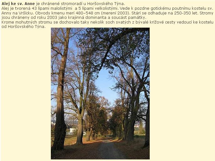 Snad by mohlo být to chráněné stromořadí ilustrací k jedné z jeho básní