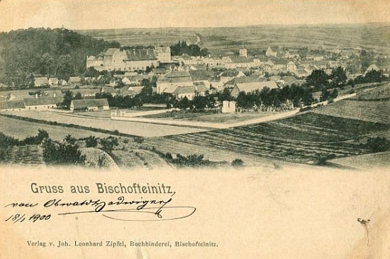 Horšovský Týn na pohlednici z počátku 20. století