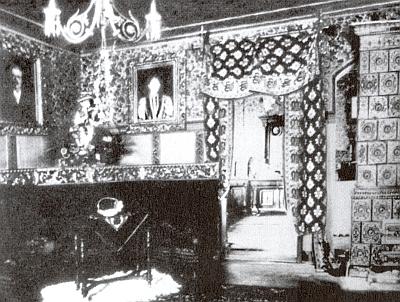 Interiér zámku v Debrníku kdysi