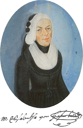Marie Alžběta Hafenbrädlová, paní na Debrníku, na podobizně zroku 1814