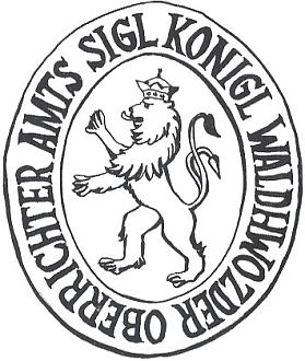 """Pečetidlo vrchního králováckého """"waldhwozdského"""" rychtáře, kteroužto funkci zastával v Zejbiši v letech 1754-1756 i Josef Hafenbrädl"""