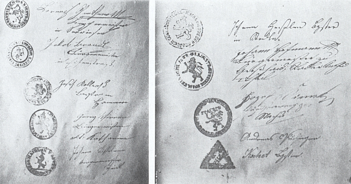 Otisky pečetidel králováckých rychtářů - z archivu Adolfa Heidlera