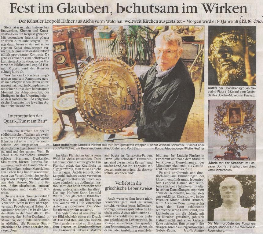Pocta k jeho osmdesátinám na stránkách bavorského deníku