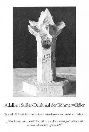 Návrh Stifterova památníku Šumavanů v Mnichově...