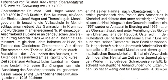 Pozdrav k jeho devadesátinám, jehož autorem je zde chybně podepsaný Josef Steininger