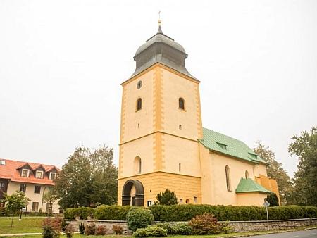 Opravený kostel dnes