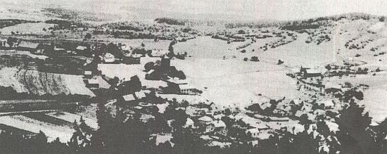 Přimda před spojeneckým bombardováním a po něm