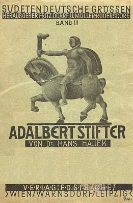 Obálka (1925) jeho knihy o Stifterovi ve vídeňském nakladatelství Ed. Strache