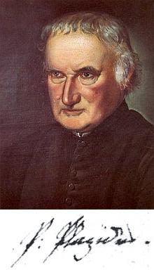 Na portrétní olejomalbě z majetku kláštera Kremsmünster