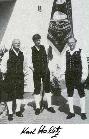 Karl Halletz první zprava na snímku z r. 1985