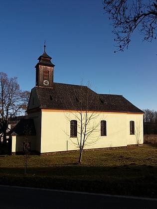 Kostel a někdejší fara v Křišťanově (viz i Johann Kramler)