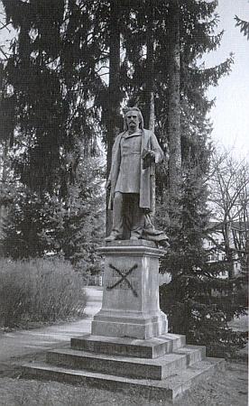 Hamerlingův pomník (také od Hanse Brandstettera) zroku 1893 ve Waidhofen an der Thaya