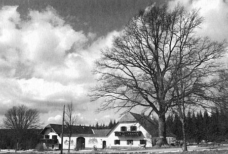 Tato rakouská hájovna z roku 1765 u přechodu ve Stadelbergu nese název Zur Quelle der Lainsitz, tj. U Pramene Lužnice