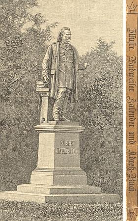 """Jeho památník ve Vídeňském lese v""""Ilustrovaném Budějovickém kalendáři aadresáři na rok 1895"""""""