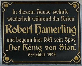 Dům ve Schweiggers, kde opakovaně pobýval a psal