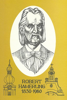Obálka (1980) pamětní publikace ke 150.výročí autorova narození vydané Hamerlinggemeinden des Waldviertels
