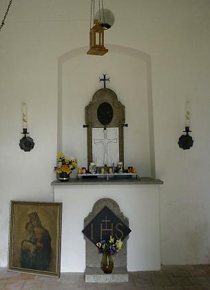 Interiér radslavské kaple