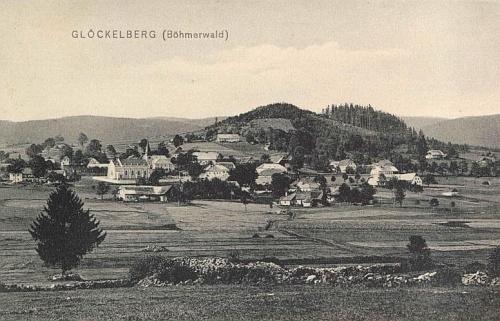 Někdejší Glöckelberg na pohlednici Josefa Seidela