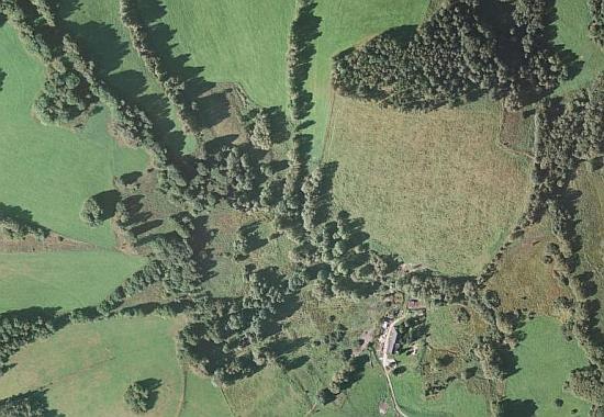 Ostrá Hora na leteckých snímcích z let 1952 a 2008