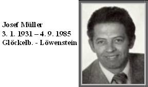 """Sepp Müller, """"jeden z nich"""", na seznamu zemřelých obyvatel někdejšího Glöckelbergu"""