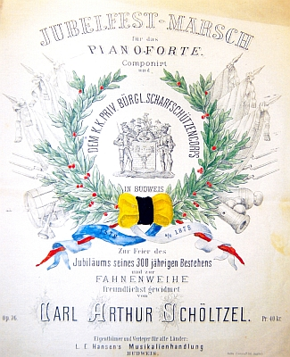 """Obálka (1878) hudebniny, jejímž vlastníkem a vydavatelem """"pro všechny země"""" byla firma Hansen"""