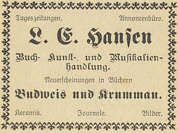 Inzerát firmy z roku 1922