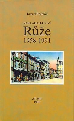 Obálka (1998) knihy o nakladatelství, sídlícím až do svého zániku vtémže domě, kde se podle svědectví staré pohlednice nacházelo i jeho knihkupectví a nakladatelství