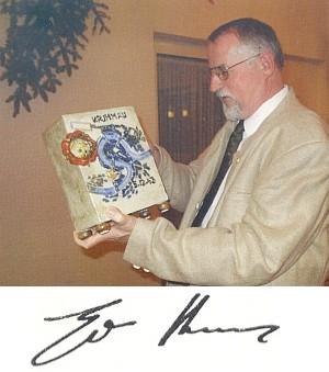 S dárkem k narozeninám: Willi Fischer na něm zachytil Krumlov shora