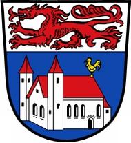 Znak dolnobavorského Pfarrkirchen, kde skonala jeho žena a o tři roky později i on